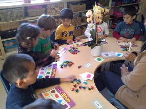 Children playing BINGO