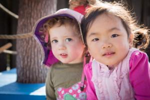 Two toddler girls
